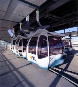Cabina del teleférico realizado por la empresa Leitner.