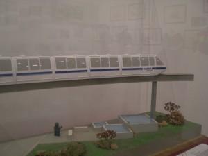 Maqueta del Monorraíl realizado por Von Roll (Expuesta en la Exposición realizada por Legado Expo en 2012 - Empresa pública de Gestión de Activos, s.a)