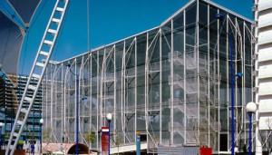 Pabellón de Holanda durante la Expo'92.