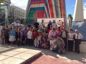 Uno de los grupos que visitó la Cartuja en una nueva jornada de visitas guiadas el 12 de Octubre de 2012.