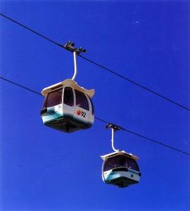 Diseño gondola que fabricó la empresa italiana Leitner.