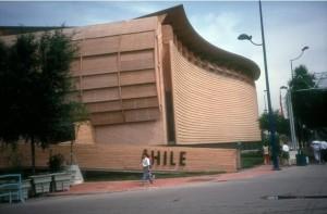 Pabellón de Chile durante la Expo'92.
