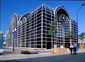 Pabellón de la Santa Sede durante la Expo'92 (Fotografía Miguel Ángel Nistal).