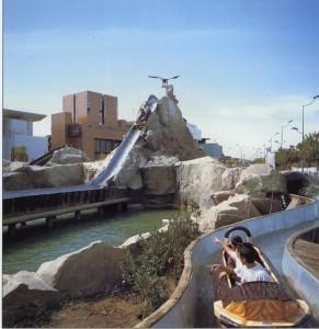 Montaña Rusa de agua, Flume Ride en el Parque de los Descubrimientos.
