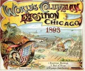 Cartel Exposición Universal de Chicago en 1893.