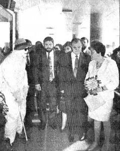 Miguel Durán, José María Arroyo y la ministra de Asuntos Sociales Matilde Fernández (Fotografía A.Doblado - ABC).