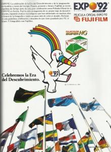 Fujifilm patrocinador oficial de Expo'92.