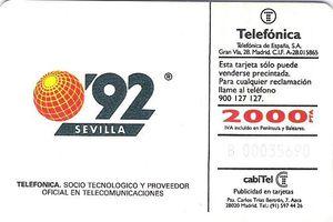 Telefónica, socio tecnológico y proveedor oficial en telecomunicaciones en Expo'92.