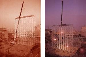 Construcción del Pabellón de Venezuela.