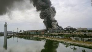 Incendio del Pabellón de los Descubrimientos 18-02-1992.
