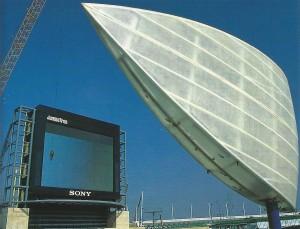 Modernidad en la Isla de la Cartuja desde la famosa Plaza Sony.