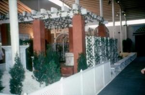 Zona Jardín del Pabellón del Siglo XV en 1992.