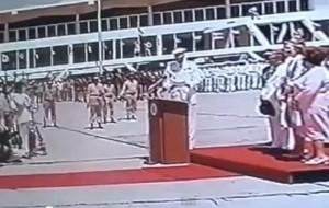 Discurso del Rey Juan Carlos I a la llegada de Santo Domingo.
