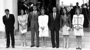 Familia Real en la jornada inaugural de la Exposición.