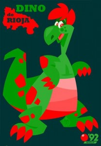 Dino mascota del Pabellón de la Rioja.