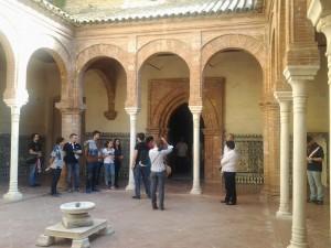 Uno de los patios interiores del Monasterio.