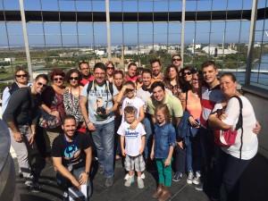 Grupo (11:00) guiado por Ángel Aramburu y José Cabello.