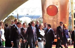 Familia Real en la inauguración.