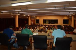Reunión ciudadana en el Pabellón Fundación ONCE.