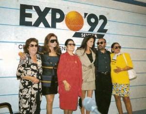 Presentación a la Prensa de Azabache en Expo 92.