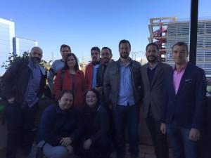 Algunos de nuestros socios en la jornada inaugural del Auditorio Box Sevilla.