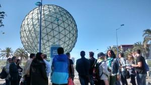 Esfera Bioclimática durante una de nuestras visitas.